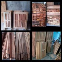 Janelas de madeira, janelas de banda, janelas inteira, janelas