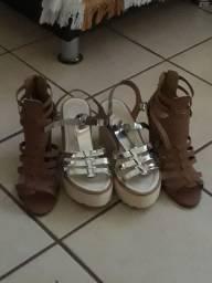 Sandalias  semi  novas