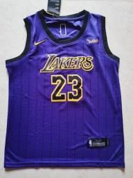 Camisa de Basquete NBA Los Angeles Lakers City Edition Purple