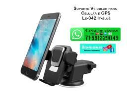 Suporte Veicular para celular e GPS Le-042 It-blue