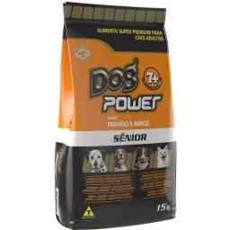 Ração Super Premium Dog Power Frango e Arroz para Cães Sênior 7+ 15Kg