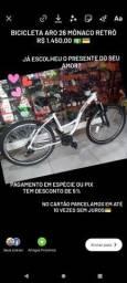 Bicicleta aro 26 monaco estilo retrô (Loja Mega Bike)