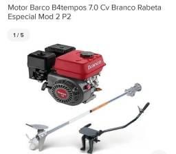 Motor Barco B4tempos 7.0 Cv Marca Branco Novo na Caixa