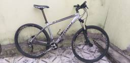 Bike Cannondale aro 29 Shimano SLX 2x10 freio hidráulico Top