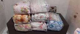 Cobre leito com 5 peças e lençol com dois trabiceiro