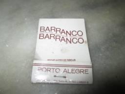Raridade década 50 - Caixa Fósforos Churrascaria Barranco - Porto Alegre