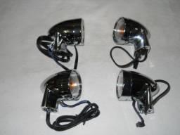 Acessório Harley Davidson ? Jôgo completo de 4 piscas tipo Bullet originais.