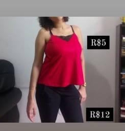 Roupas femininas tam M/G (tudo baratinho pra vender logo)