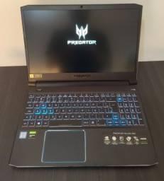 Notebook Gamer Top Acer Predator Helios 300 Core i7+GTX1660Ti 6GB+16GB Ram*Novo*Ent