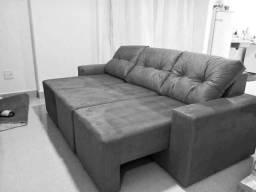 Super Oferta!Sofá Retrátil 2,20m,3 módulos,Conforto e Qualidade,entregamos na sua casa!