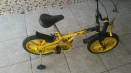 Bicicleta caloi zig aro 16 com rodinhas