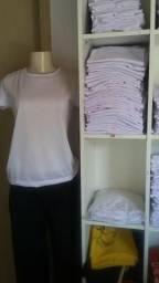 Camisetas brancas lisas de poliéster
