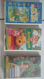 Vendo 3 fitas cassete VHS, infantil