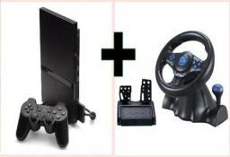 Playstation 2 + volante multilaser