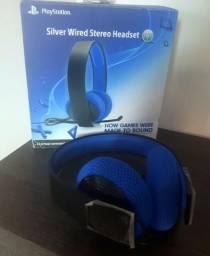 Headset Sony 7.1 Silver NOVO