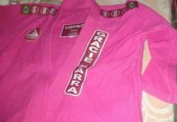 Kimono Gracie Barra A2 Pink semi novo