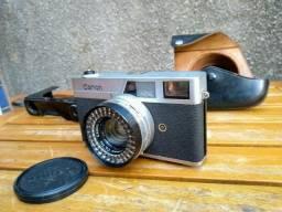 R$250 Câmera fotográfica antiga Canon com capa de couro original