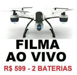 Drone Câmera Ao Vivo Fpv Wifi Fica Parado no Ar