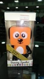 Caixa de Som - Mini Dance Robot Dog Wireless Bluetooth Speake