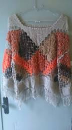 Lindas peças de filé ( crochê)
