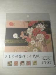 Papel de origami com estampas japonesas
