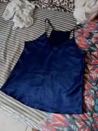 Blusa azul e do Palmeiras nunca usado