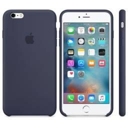 Capa iPhone 6/6s Plus Silicone Azul Apple (Original/Lacrado/Apple)