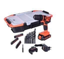 """Furadeira / Parafusadeira Black + Decker 3/8"""" bateria 20V Bivolt 1,5A Hobby"""