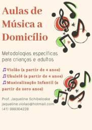 Curso de Férias - Aulas de Violão e Musicalização Infantil em Casa