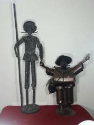 (2 peças) D. Quixote e Sancho Pança