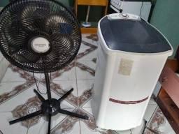 Maquina de lava e ventilador