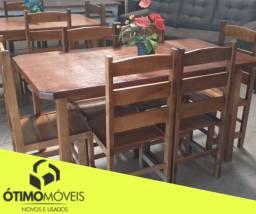 Mesa 6 lugares madeira nova 699,00