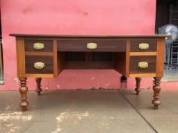 Escrivaninha Rústica Antiga Madeira Maciça