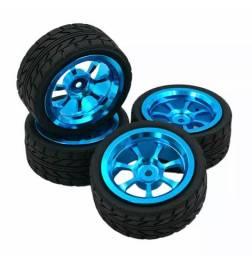 Rodas em alumínio R/C 1/10 com pneus