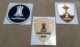 Kit Patch Conmebol Libert+campeão 2020+troféu 2. Frete 10,00