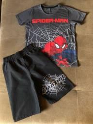conjunto homem aranha - 7/8 anos