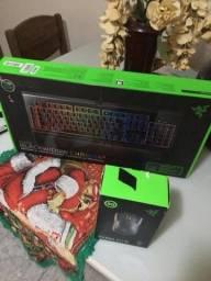 teclado razer blackwidow v2 chroma full size e mouse razer mamba elite chroma