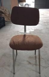 Título do anúncio: Cadeira em Ferro Marrom 77 cm x 36 cm x 40 cm
