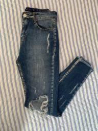 calça jeans destroyed -  renner