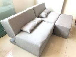 Sofa cama articulado modulado tokstok linho