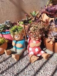 Bonecos cerâmica para jardim