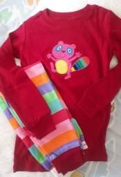 Pijama longo infantil de menina