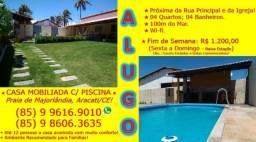 Aracati : Alugo Casa Mobiliada e c/ Piscina na Praia de Majorlândia . 85 9 9616.9010