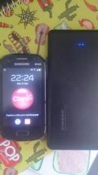 Xperia +carregador portátil +Samsung pockt