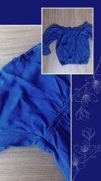Blusa Ciganinha Azul