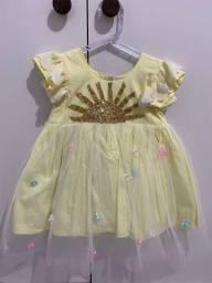 Vestido Tema Sol - Tam 1 Ano
