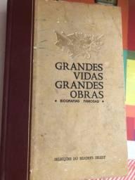Livro antigo Biografias famosas