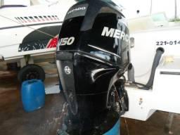 Motor de popa 150 4T mercury 2011 com 200 hs
