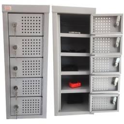 Armário Porta Objetos Pequenos 5 Portas ? M59x23x28 cm
