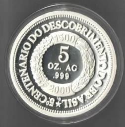 Medalha 5 Onças De Prata Pura 155,5 Gramas Federativa In Hoc